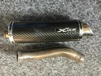Pipe Werx -GSXR K7 + Carbon Fibre GP Road Legal Exhaust Can With Connecting Pipe