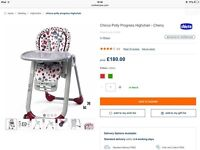 BNIB Chicco Polly Progres5 suitable from birth: bouncer, highchair, booster