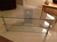 THIS IS LOVELY GLASS TV STAND - FIRST GENUINE OFFER SECURES.