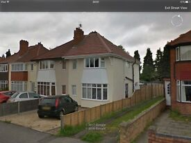 3 bed semi to let, Redlands road Solihull