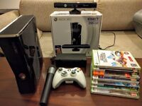 Xbox 360 Console + Kinect + 7 games