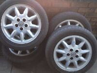 In good condition used GULF 9 Arms Alloy Rim