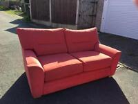 Two, three seater sofas and arm chair