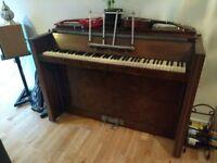 Upright piano - compact - art deco - Amylette - Manchester city centre
