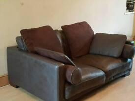 Brown Italian leather two seater sofa £200 ono