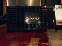 BEER GLASS DRIP TRAYS, 2. GUINNESS BRAND. STRONG PLASTIC, BRAND LOGO. FOR BARTOP OR DINING TABLE.
