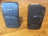 BT wifi home hotspot powerline adapter