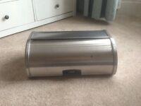 Brabantia silver bread bin