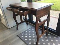 Antique Oak Campaign Table