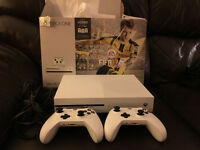 XBOX ONE S, WITH FIFA 17 ( 2 CONTROLLERS) + 3 MONTHS XBOX LIVE