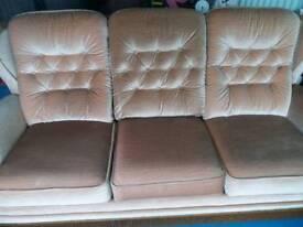 SOFA 3 piece suite camel/beige spotless £195