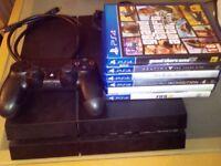 Sony Playstation 4 with 6 Games, Grand Theft Auto 5, Destiny, FIFA, Driveclub, Elder Scrolls, Dragon