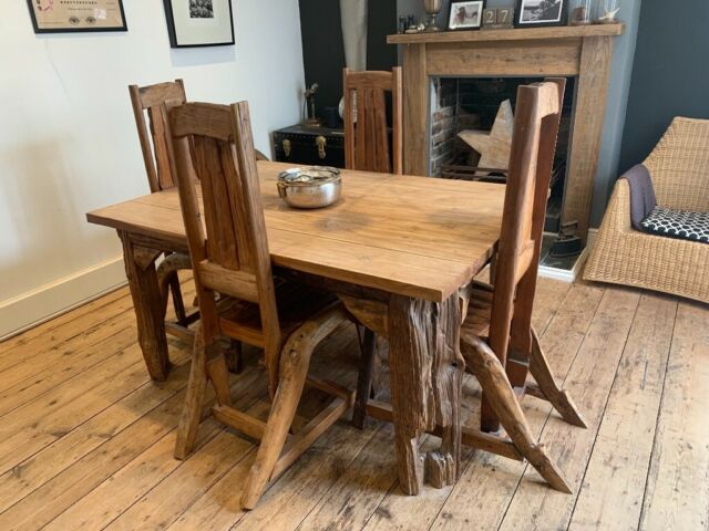 Teak Dining Table And Chairs In Westbury Wiltshire Gumtree