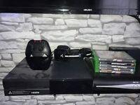 Xbox one 500gb + triton headset + games