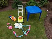 Joblot job lot of baby toys baby bouncer table play mat and more