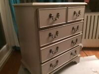 Wooden chest of draws .63m w .41d .74h. Painted in farrow and ball Charleston grey