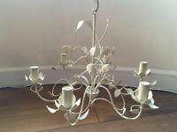 B&Q Eva Cream 6 Lamp Pendant Ceiling Light