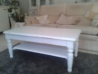 White Coffee Table - shabby chic style.