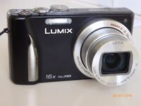 Panasonic Lumix DMC-TZ25. As new . Complete with charger, instruction manual , memory card