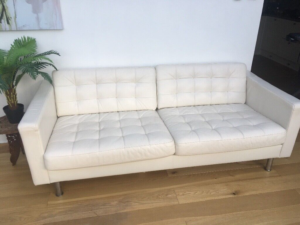 Excellent Ikea Landskrona 3 Seat White Leather Sofa Only 3 Years Old Cost 695 In Broadstone Dorset Gumtree Gmtry Best Dining Table And Chair Ideas Images Gmtryco