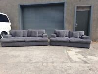 Grey dfs 3&2 seater sofas, couches, furniture 🚚🚛🚚