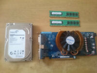 Lot of Parts (Hard Disk Memory Graphic Card)