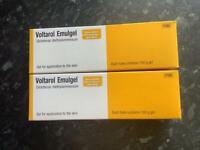 VOLTAROL EMULGEL 100G TUBES x TWO (brand new & long date)
