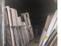 FREE TO COLLECT Jeld Wen Double Glazing Windows PVC Spec and Timber Doors frames Patio Pine