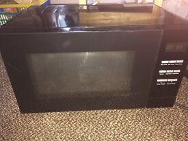 Black digital microwave