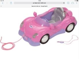BABY ANNABELL / BABY BORN DOLLS CAR WITH LIGHTS AND ENGINE NOISES