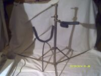 A BARITONE SAXOPHONE STAND , FOLDS FLAT FOR GIG USE ++++++++++++++++