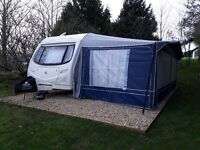 4 berth twin axle caravan 2008 withfull awning lots of extras ready to go on holiday