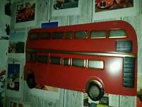 Metal London bus wall art