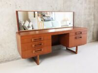 1970''s Midcentury vanity table/desk with long mirror