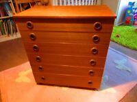 Mid-century look 6 drawer Schrieber chest