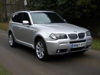 """BMW X3 3.0TD M-SPORT - SAT NAV - PAN ROOF - FSH - 19"""" ALLOYS"""
