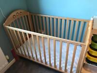 Mothercare baby cot with mattress