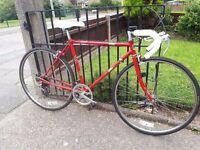 Retro road bike, student cycle, 49cm frame.