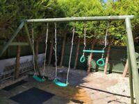 Plum double Swing and trapeze wooden