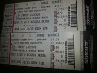two Janet Jackson tickets for her unstoppable concert BEST OFFER