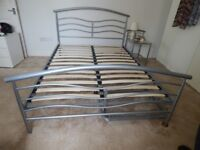 Double Bedstead two draws and Put you up Bedstead underneath. Bedside Table to match