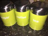 Tea coffee sugar canister/container