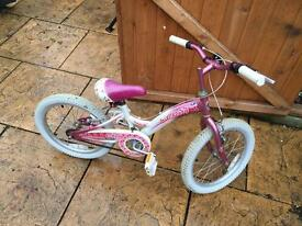 "Girls Bike. Lovely condition. Serviced. 9"" Frame & 18"" wheels."