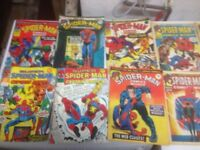 vintage marvel comics books 34 piece sold as a lot! collectible items