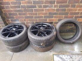 Wolfrace alloy wheels 17 inch
