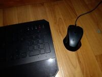 Razor Deathstalker gaming keyboard with Logitech G300 gaming mouse with programmable keys