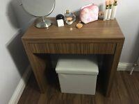 Handmade zebrano dressing table
