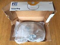 Brand New Croydex Pendle Flexi-Fix Chrome Toilet Roll Holder / Ring
