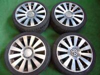 """AUDI A3, A4, A6, VW GOLF MK4, MK5, MK6, PASSAT RS8 STYLE 18"""" ALLOY WHEELS"""