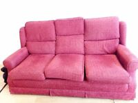 Sofa, Sofa cum bed , Two double beds with mattress, 4 seater dining table, Micro woven, Mirror etc.